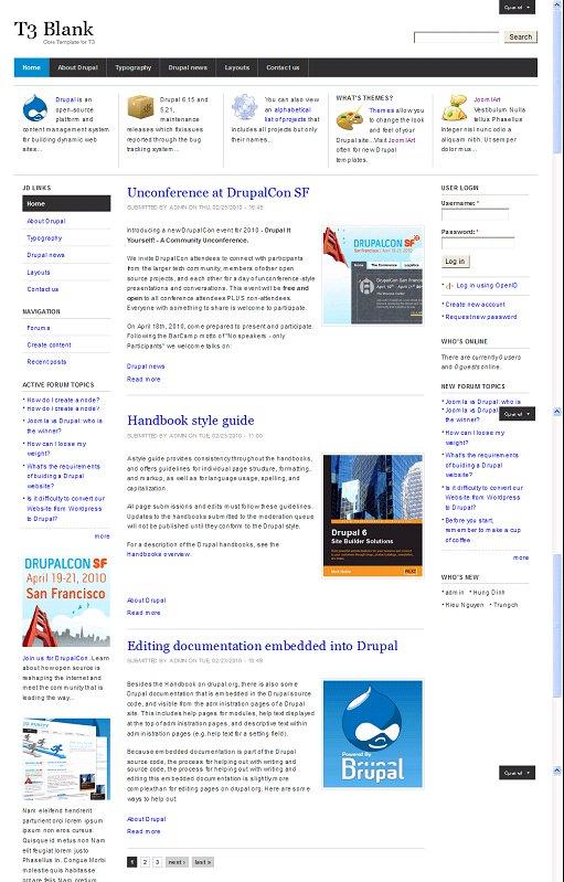 JDT3 Framework Blank Drupal Theme