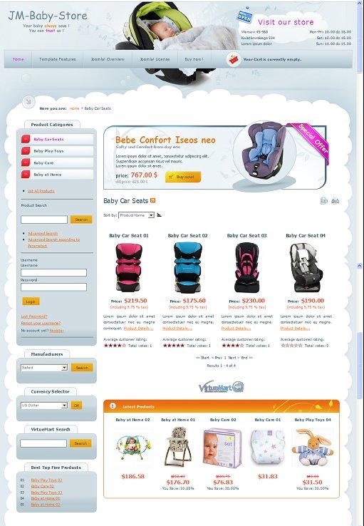JM Baby Store Shop Joomla Template