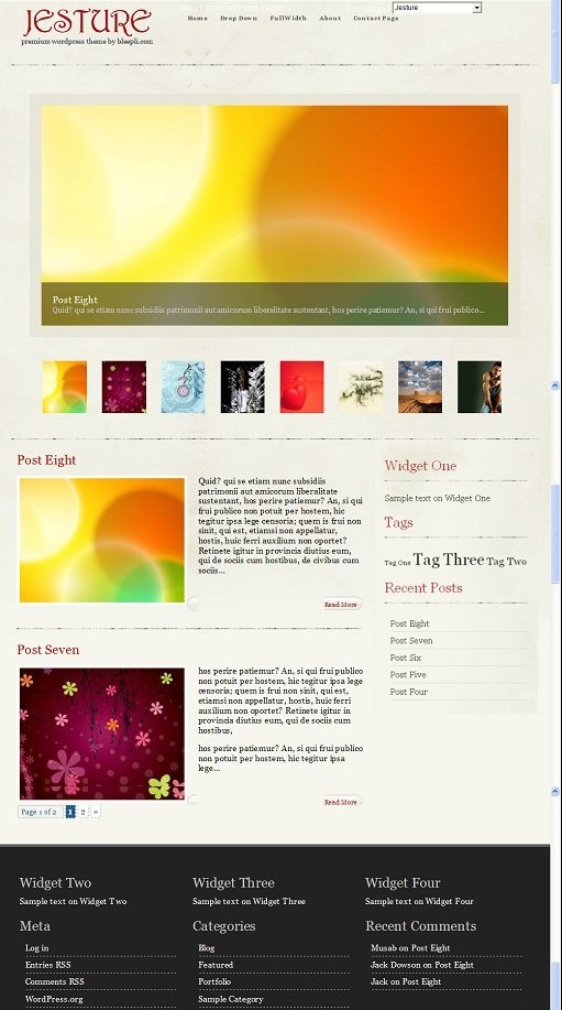 Jesture WordPress Theme