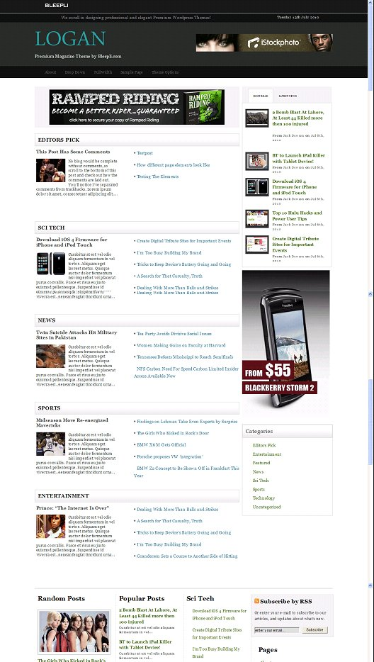 Logan WordPress Theme
