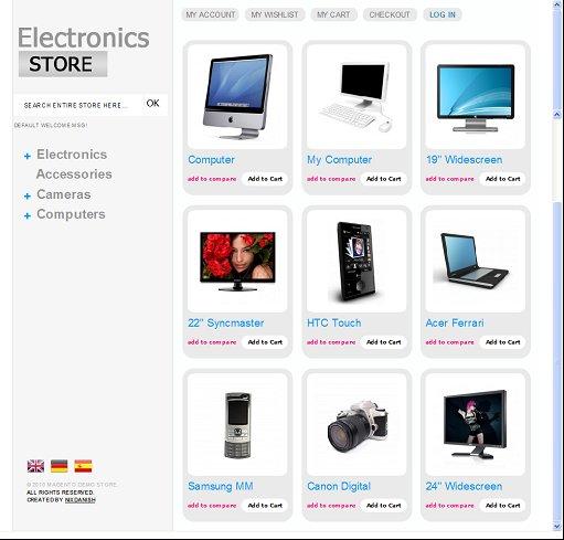 Magento Electronics Store Theme