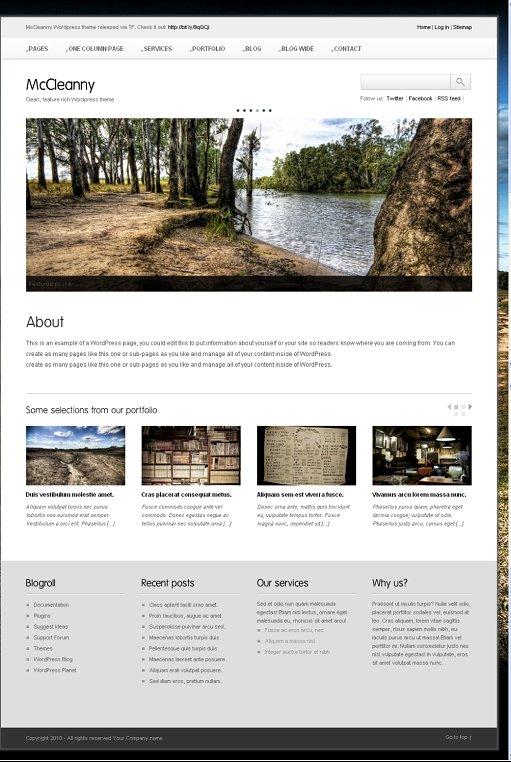McCleanny - WordPress 3.0 ready theme