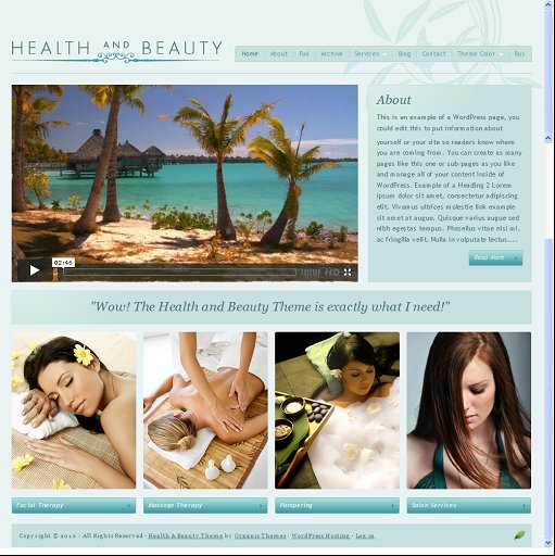 Organic Health and Beauty Theme
