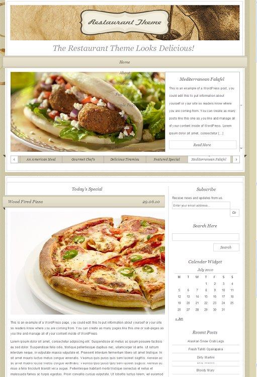 Organic Restaurant Theme