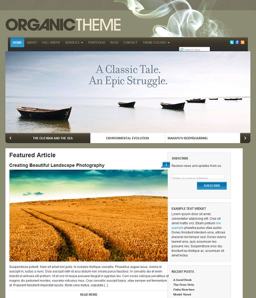 Organic Theme Earth