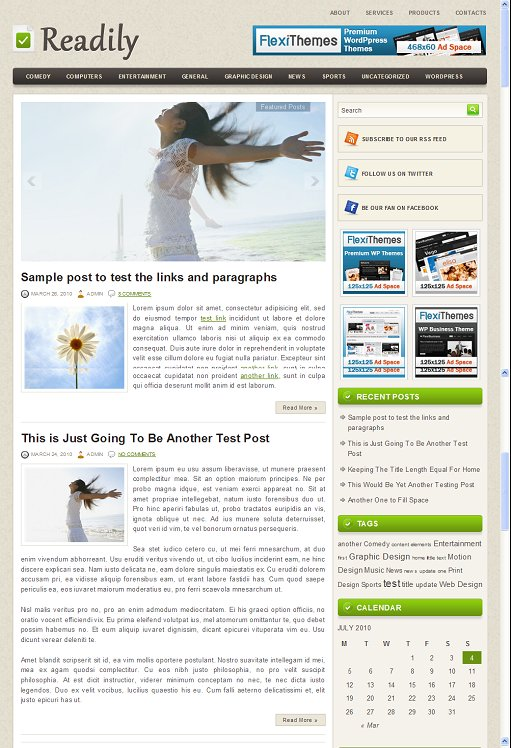 Readily WordPress Theme