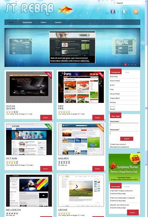 Rebab Drupal Directory theme