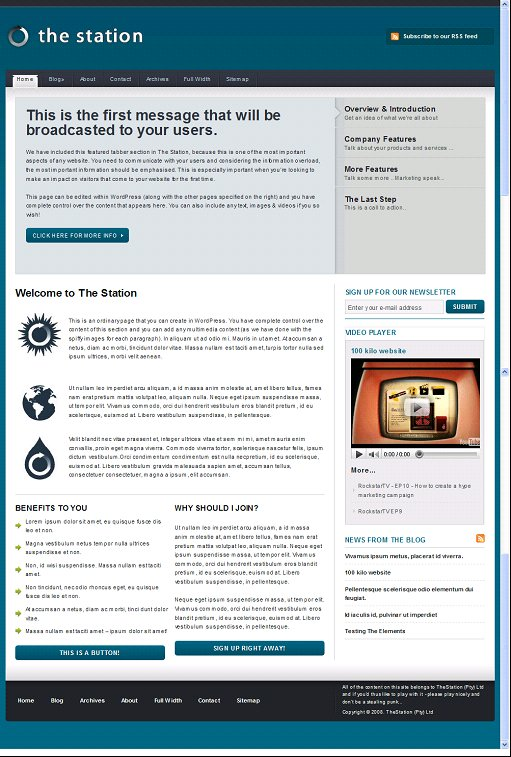 The Station ExpressionEngine Theme