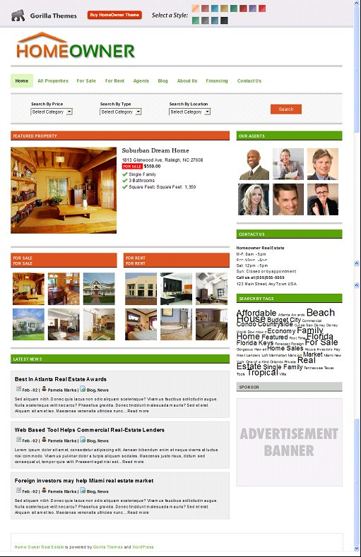 Homeowners WordPress Theme