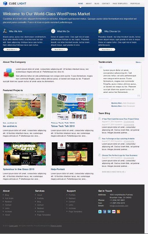CubeLight WordPress theme