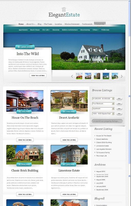 ElegantThemes ElegantEstate WordPress theme