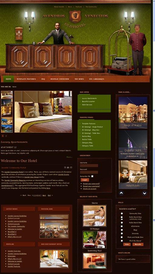 JM Hotel01 Hotel Joomla Template