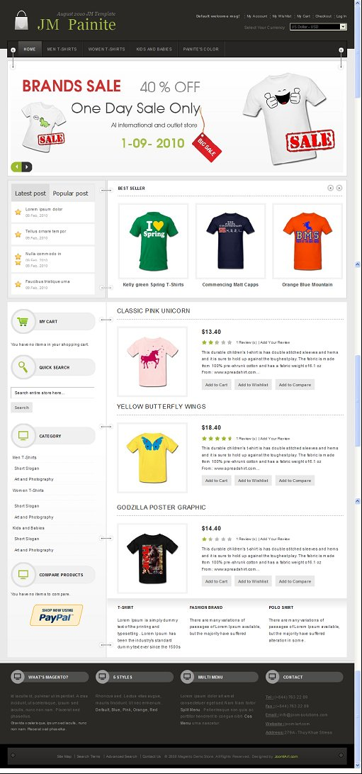 JoomlArt JM Painite Magento Theme