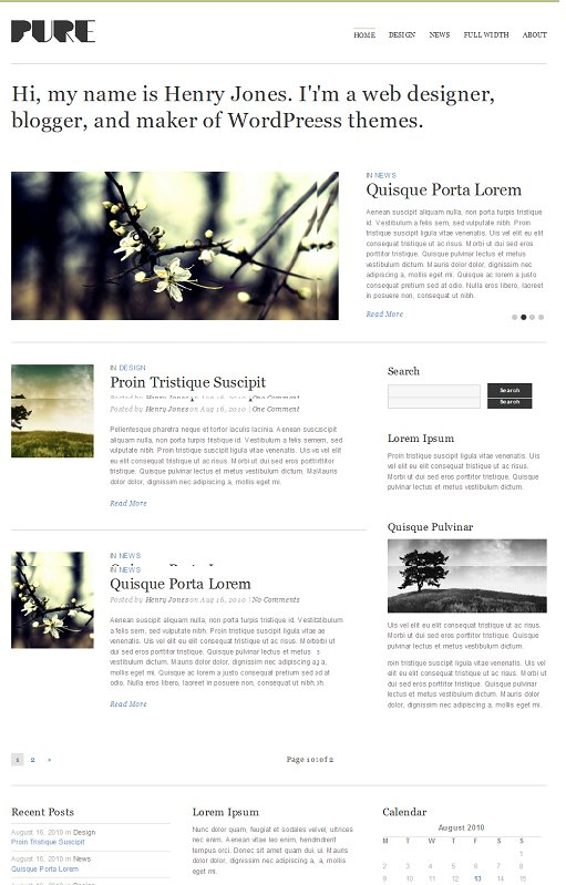 Theme Trust Pure WordPress Theme