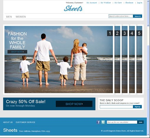 Sheets Magento Commerce Theme