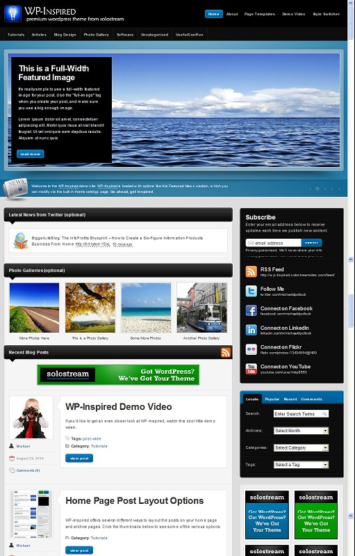 WP Inspired WordPress Theme