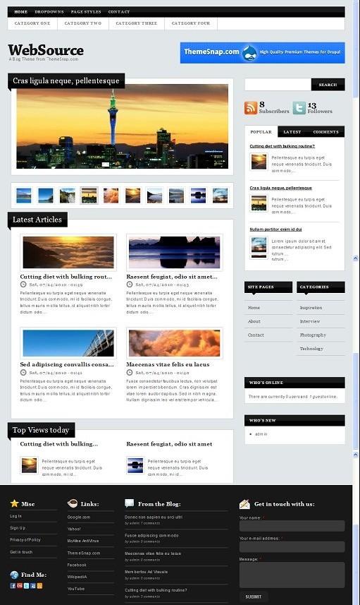 WebSource Premium Drupal theme