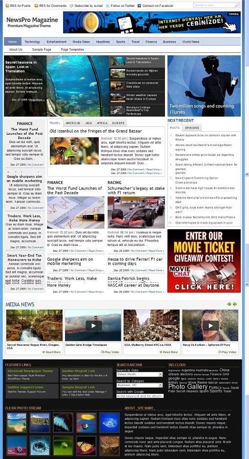 Gabfire NewsPro Theme