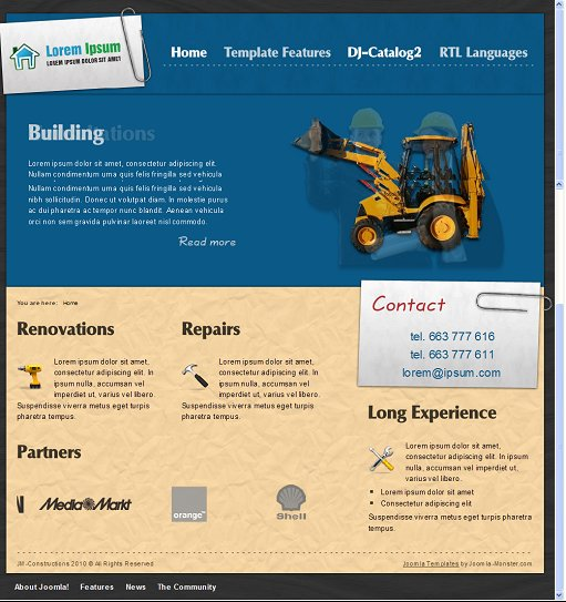 JM Constructions Business Joomla Template