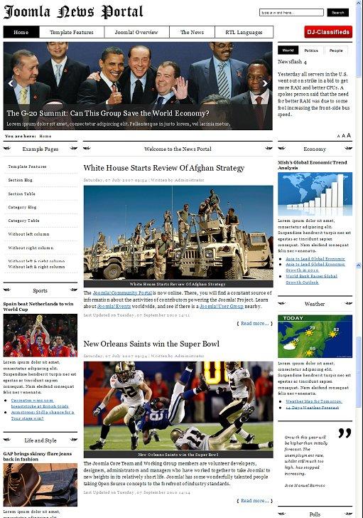 JM News Portal Joomla Template