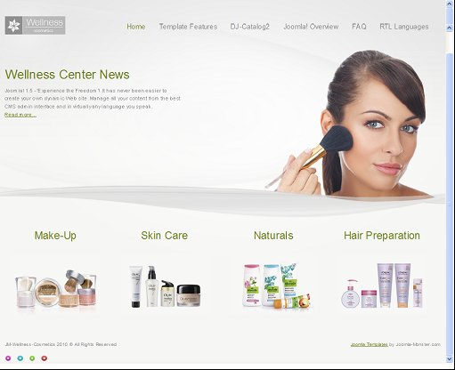 JM Wellness Cosmetics Joomla template