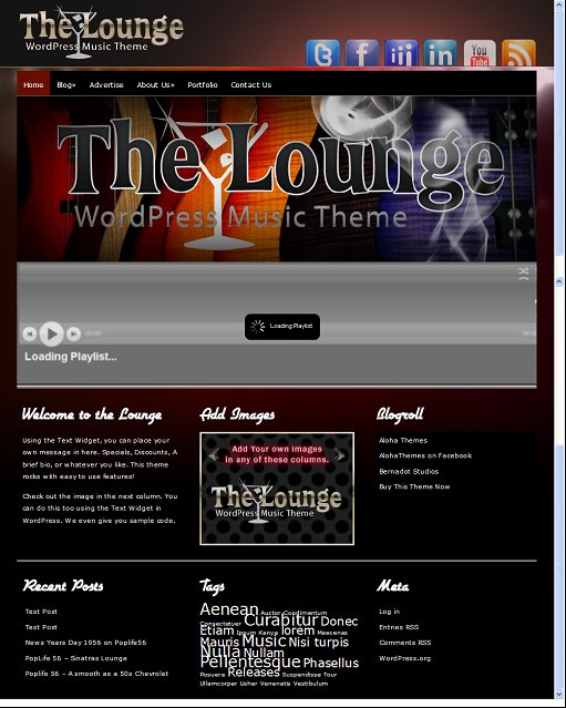 The Lounge Band WordPress Theme
