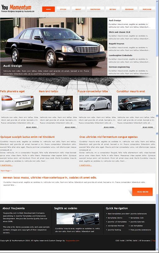 YouMomentum Cars WordPress Theme