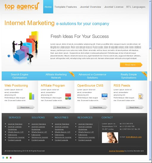 JM Internet Marketing Business Joomla Template