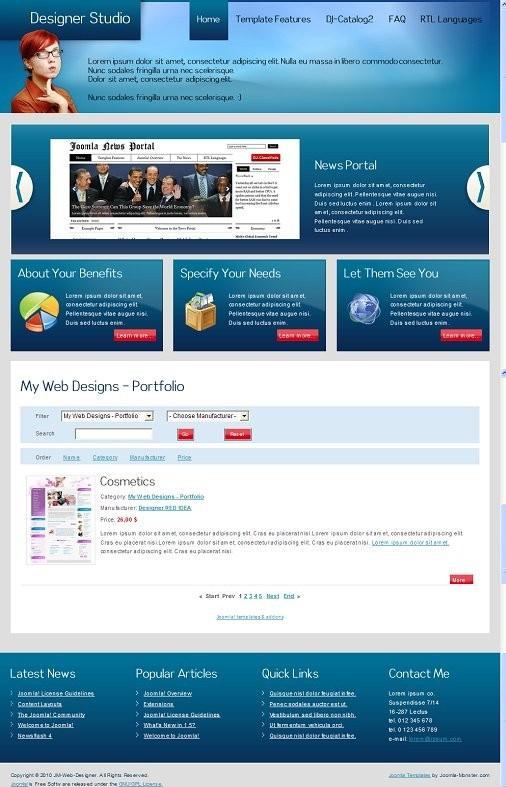 JM Web Designer Joomla Template