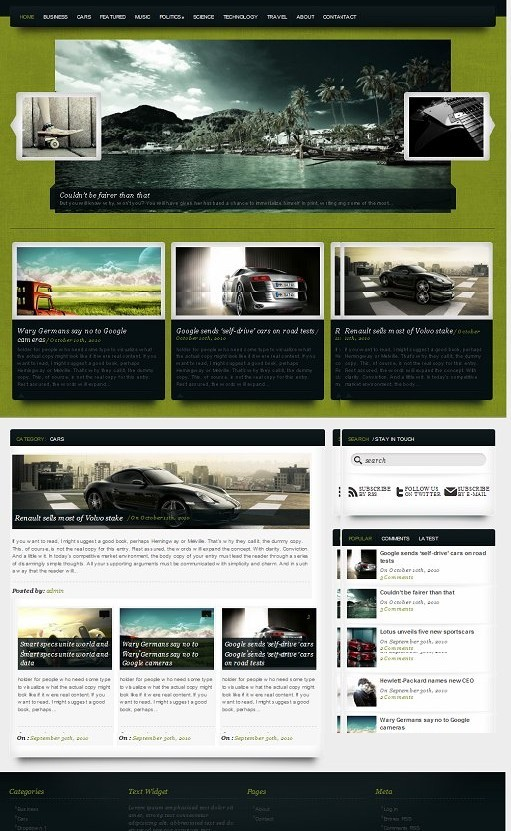 MovieMagazine WordPress Theme