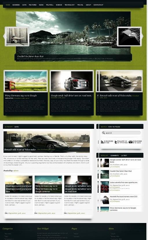MovieMagazine WordPress Theme
