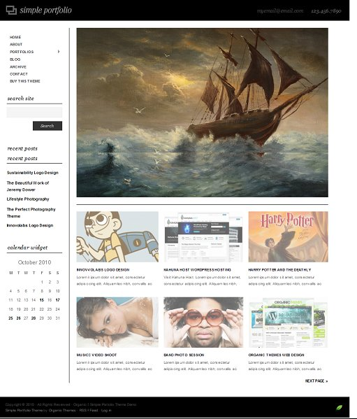 Organic Simple Portfolio WordPress Theme