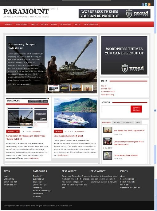 Proud Themes Paramount Awesome New WP Magazine Theme