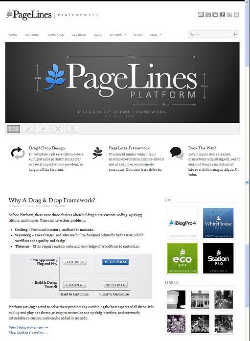 PageLines Platform Pro CMS WordPress Theme Framework