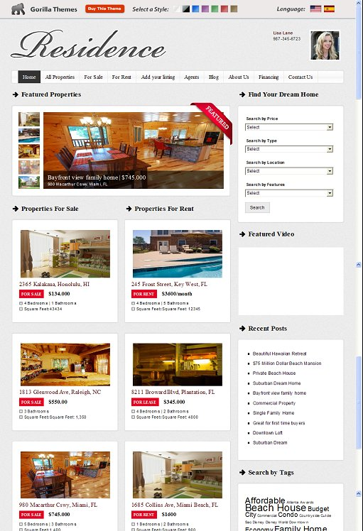 Gorilla Themes Residence WordPress Theme
