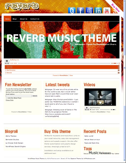 Reverb Music WordPress Theme