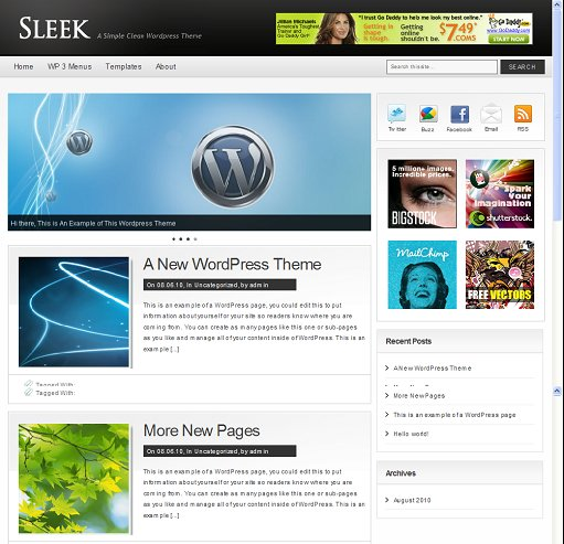 Clover Themes Sleek WordPress Theme
