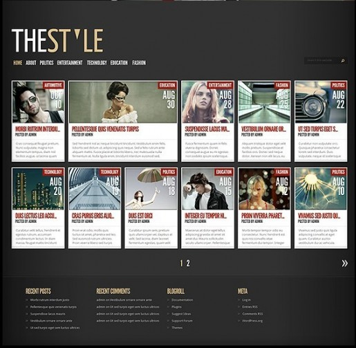 Elegant Themes TheStyle wordpress theme