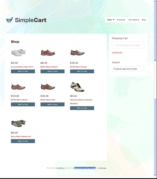 SimpleCart Premium eCommerce WordPress Theme