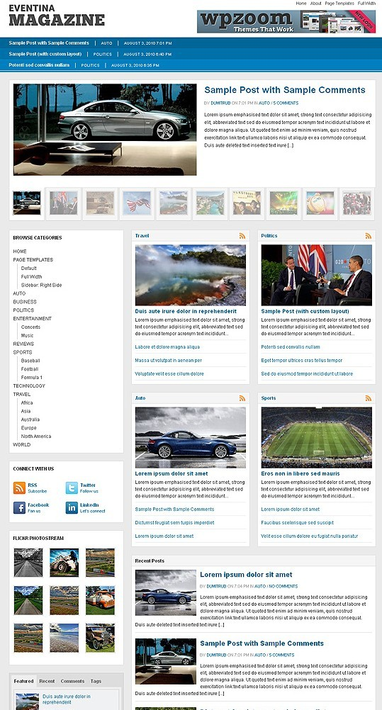 WPZOOM Eventina 3.0 WordPress Magazine Theme