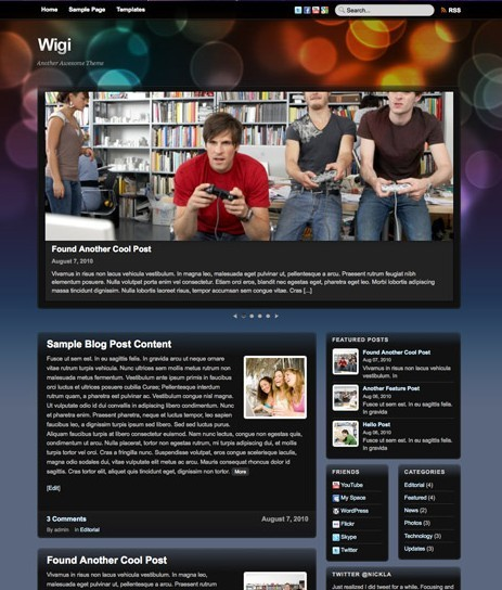 Themify Wigi WordPress Music Theme