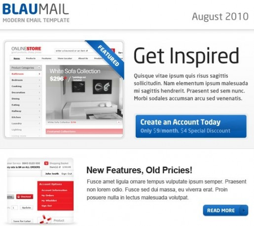 BlauMail Email Template