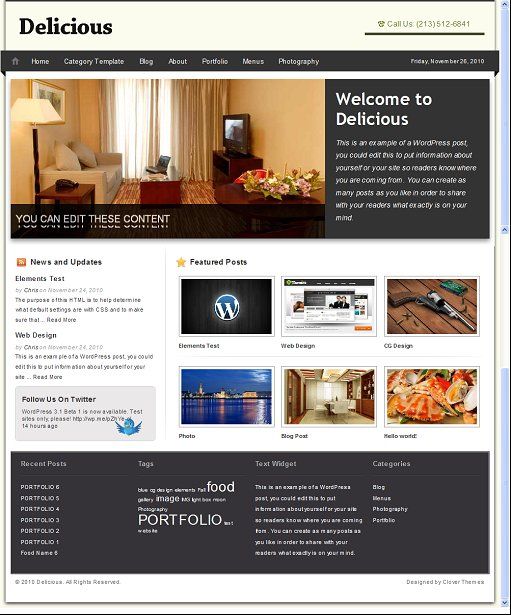 Clover Themes Delicious WordPress Theme