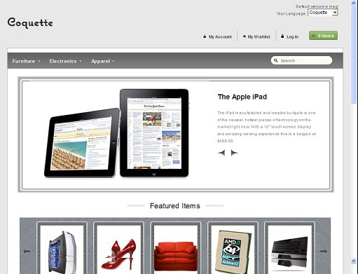 WooThemes Coquette Magento Theme