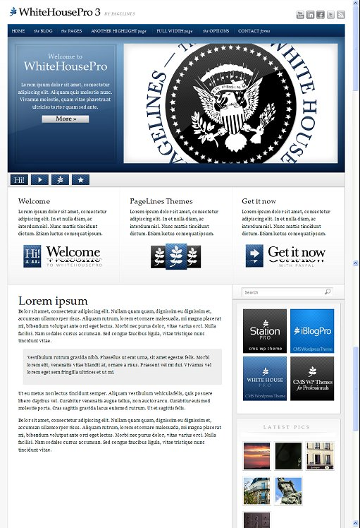 PageLines WhiteHouse Pro WordPress Theme