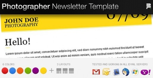 Photographer Newsletter Email Template
