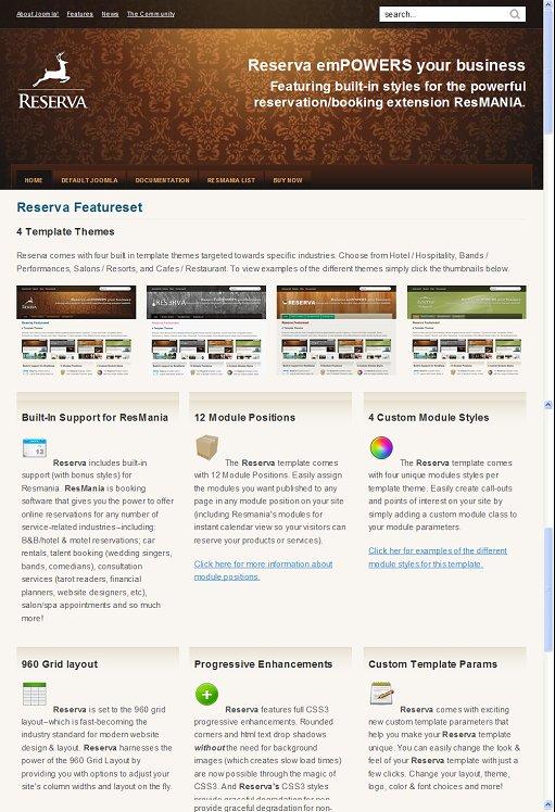 Joomlashack Reserva Premium Joomla Template