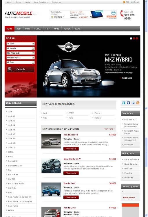 Templatic Automobile WordPress Theme
