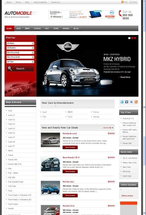 Templatic Automobile WordPress Theme