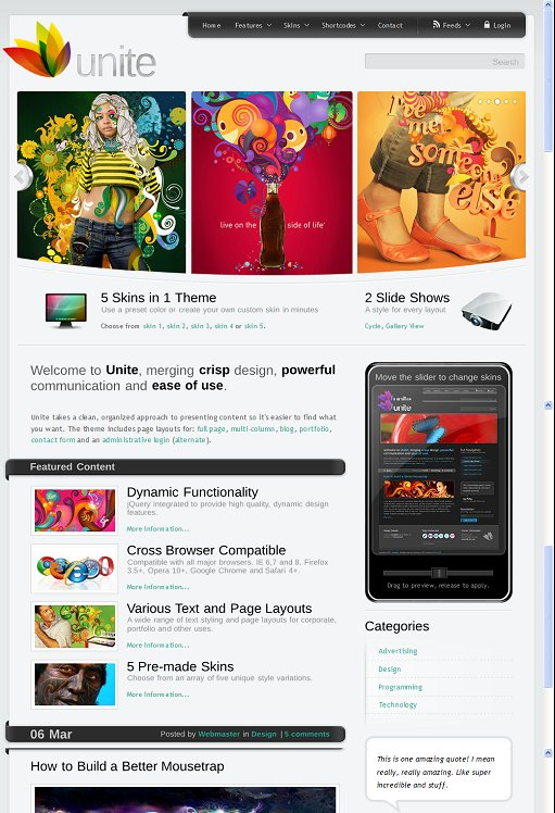 ThemeForest Unite WordPress Theme